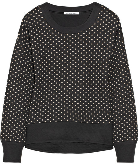 Elizabeth and James Brayden polka-dot cotton-blend sweatshirt