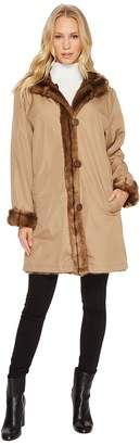 KC Collections Reversible Faux Fur Coat Women's Coat