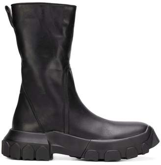 Rick Owens tractor zipped boots