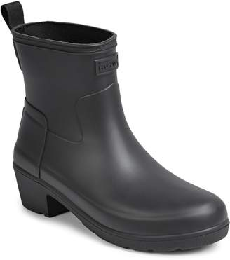 Hunter Low Heel Ankle Rain Boots