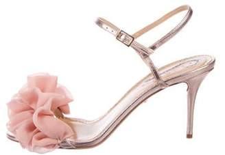 0d3c872e83 Charlotte Olympia Metallic Leather Women's Sandals - ShopStyle