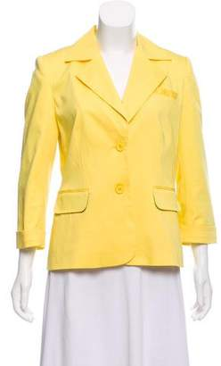 Alice + Olivia Notch-Lapel Long Sleeve Blazer