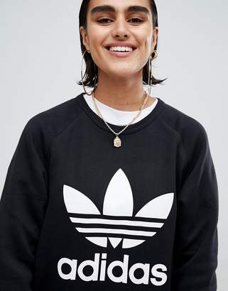 adidas Black Trefoil Boyfriend Sweatshirt