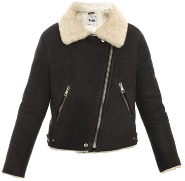 Acne Rita shearling and leather jacket