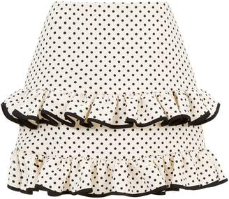 Valentino Polka Dot Ruffle Skirt