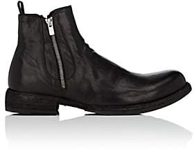 Officine Creative Men's Double-Zip Leather Chelsea Boots-Black