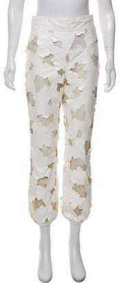 Moncler Gamme Rouge High-Rise Patterned Pants White High-Rise Patterned Pants