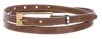 Peter Som Skinny Leather Belt