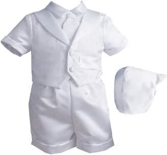 Ralph Lauren Madison baby boy Christening Baptism Infant Vestie Set With Short
