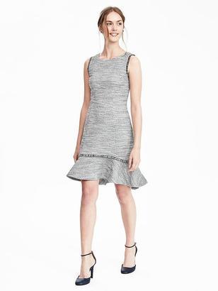 Boucle Flounce Dress $118 thestylecure.com