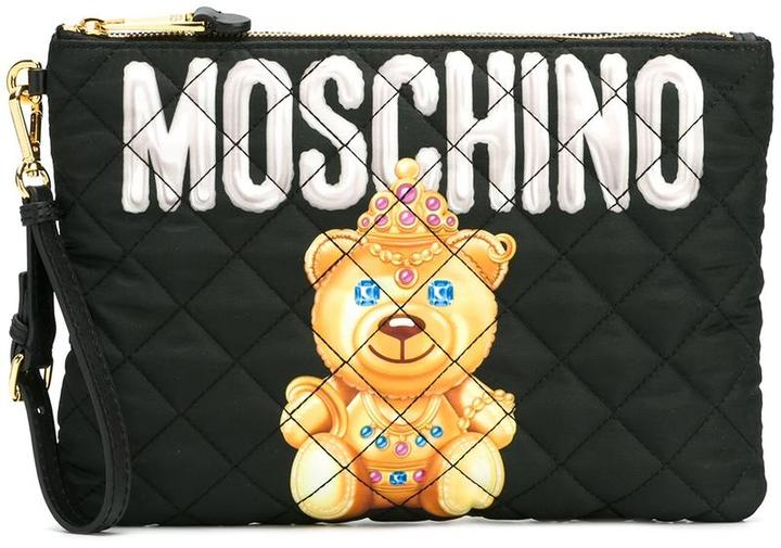 MoschinoMoschino crowned bear clutch