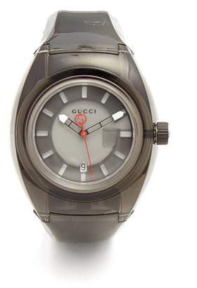 Gucci Sync Rubber Watch - Mens - Black