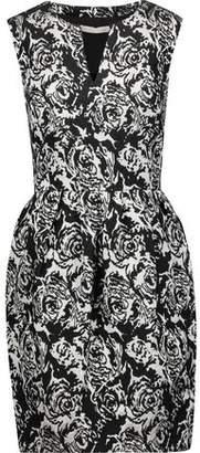Halston Metallic Jacquard Dress