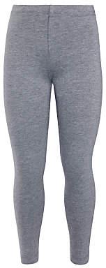 John Lewis Girls' Basics Cotton Leggings, Grey