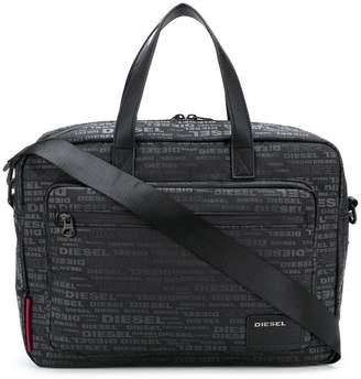 Diesel logo laptop bag