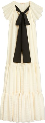 Tory Burch Textured Georgette Maxi Dress