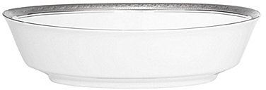 NoritakeNoritake Crestwood Etched Platinum Porcelain Oval Vegetable Bowl