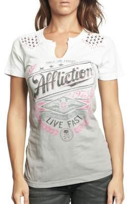 Affliction Women's Lager Short Sleeve T-shirt L