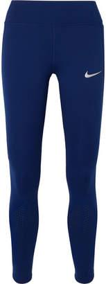 Nike Epic Lux Perforated Dri-fit Leggings - Blue