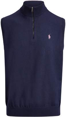 Ralph Lauren Cotton Half-Zip Sweater Vest