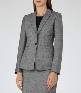 Reiss Gabrielle Jacket - Single-breasted Blazer in Grey/Black
