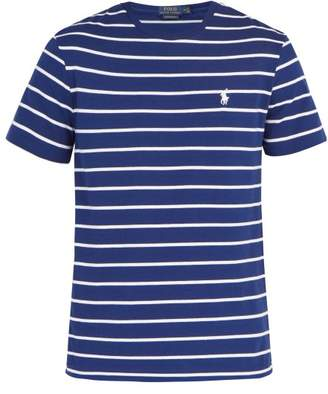 Polo Ralph Lauren Logo Embroidered Cotton Jersey T Shirt - Mens - Navy Multi