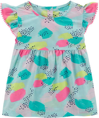 Carter's Printed Flutter Sleeve Babydoll Top - Toddler Girls 2T-5T
