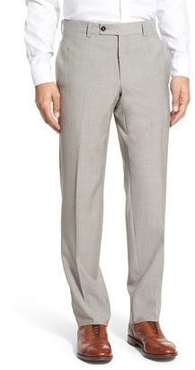 Ted Baker London 'Jefferson' Flat Front Solid Wool Trousers $195 thestylecure.com