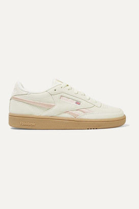 Reebok Club C Revenge Embroidered Suede Sneakers - Off-white