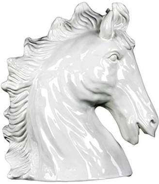 Benzara Ceramic Horse Head Decor