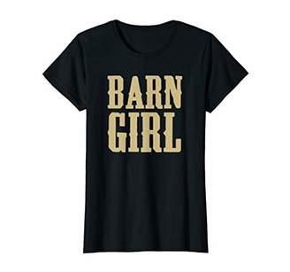 Womens Barn Girl Horse Gift Clothing Lover T-Shirt