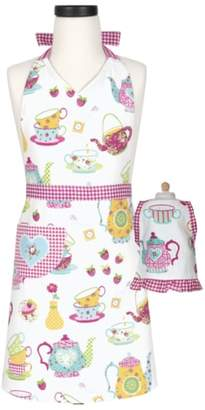 Handstand Kitchen Tea Party Kid Apron & Doll Apron Set