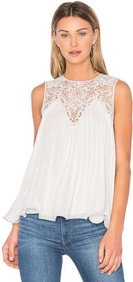 Endless Rose Lace Detail Pleated Top