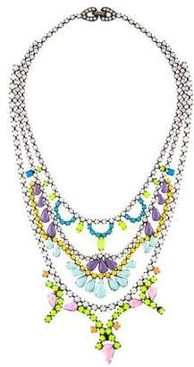 Tom Binns Crystal Painted Collar Necklace