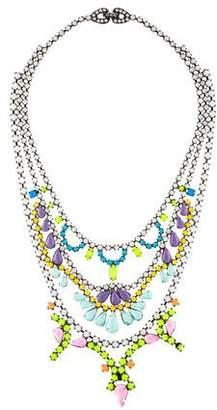 Tom Binns Crystal Painted Collar Necklace