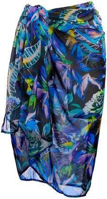 c6d1b0a3f0 Next Womens Fantasie Blue Floral Print Paradise Bay Pareo Sarong