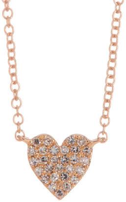 Ron Hami 14K Rose Gold Pave Diamond Heart Pendant Necklace - 0.09 ctw