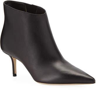 Jimmy Choo Marinda Smooth Leather Booties, Black