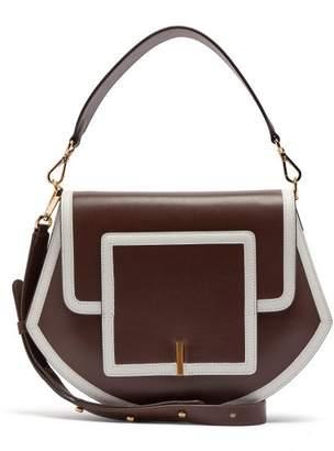 Wandler Al Smooth Leather Cross Body Bag - Womens - Brown Multi
