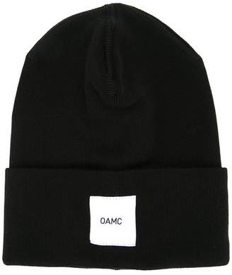 Oamc brand patch knitted beanie