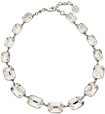 Ben Amun Square Crystals Linked Necklace