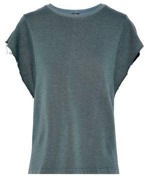 Monrow Cotton And Tencel-Blend Terry T-Shirt