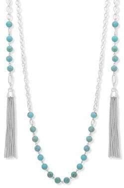 Lauren Ralph Lauren Tassel Wrap Necklace