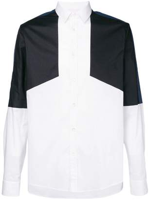 Les Hommes Urban colour block shirt