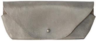 Maximum Henry Grey Leather Glasses Case