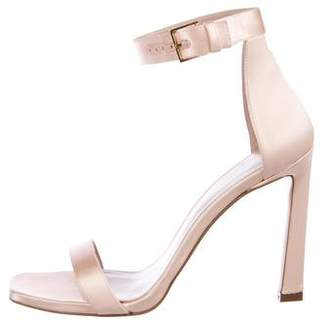 Stuart Weitzman Satin Ankle-Wrap Sandals