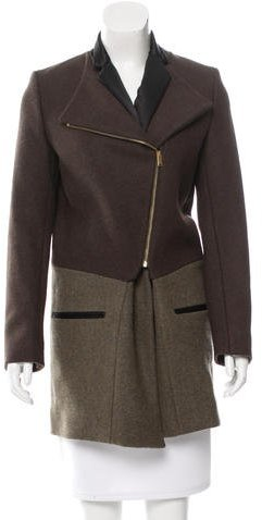 Celine Céline Wool Asymmetric Coat