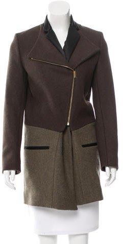 CelineCéline Wool Asymmetric Coat