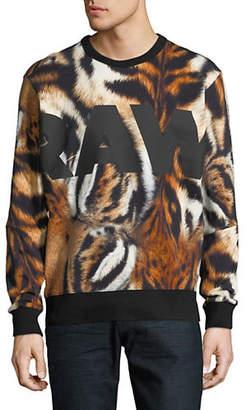 G Star Mostom Tiger-Print Cotton Sweater