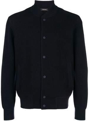 Ermenegildo Zegna buttoned logo patch cardigan